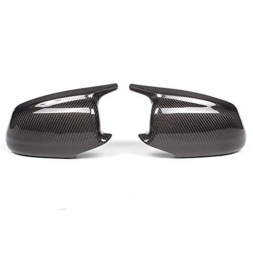 DUONIANHESJ Accesorios para espejo retrovisor para BMW Serie 5 F10 F11 Lci 2010 – 2013 Tapas de repuesto de fibra de carbono para visión trasera lateral (color: fibra de carbono)