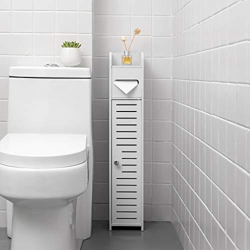 Toilet Paper Holder Stand,Slim Bathroom Storage...