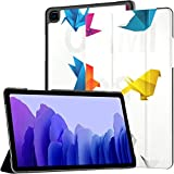 Funda Galaxy A7 Origami Birds Vector Pack Funda para Samsung Galaxy Tab A7 10,4 Pulgadas 2020 Funda Protectora con Soporte Funda Samsung A7 Folio Funda Funda de Cuero PU para Tableta