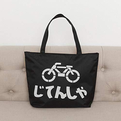 GZXYYY Nuova Shopping Bag di Tela Casual con Borsa Verde Borsa Portatile City Buy Borsa da Viaggio Spalla Borsa da Viaggio Nero Bicicletta