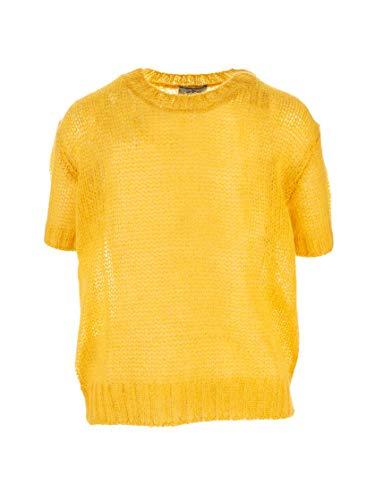 Prada Luxury Fashion Damen P24T0RS1921VD9F0010 Gelb Polyester Sweater | Herbst Winter 19