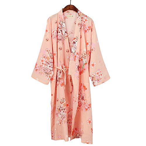 Women Kimono Long Yukata Japanese Pyjamas Cardigan Dressing Gown Sleepwear