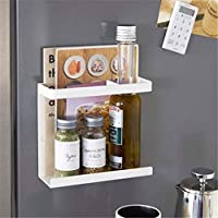 キッチンラック エコフレンドリーキッチンオーガナイザー冷蔵庫はサイドシェルフ側壁ホルダー多機能家庭用多層冷蔵庫ストレージラック (色 : White S)