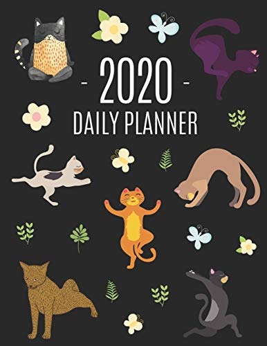 Cat Yoga Planner 2020: For an Easy Overview of All Your Appointments! | Large Funny Animal Agenda | Meditation Kitten Yoga Organizer: January - ... Months) | For School, College, Work or Office
