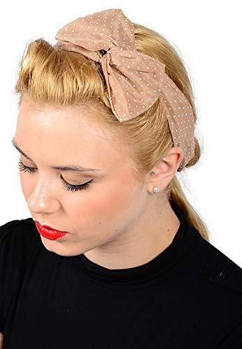 Unbekannt Cute Polka DOTS Bow Schleifen Haarband Retro 50s Haarschmuck Schal Tuch