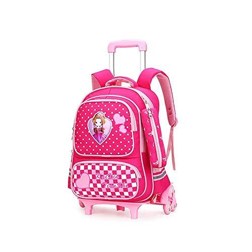 Zixin Trolley Travel Bag Children's Trolley Schoolbag Escuela Primaria Estudiantes 6 Ruedas Mochila escaleras escaleras Mute Rueda Bolsa Sin Esfuerzo Viajes Bag Ruedas de Molde duraderas
