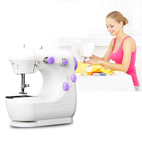Household Sewing Machine Lightweight Portable Mini Sewing Machine Perfect for Beginners Children Girls Women & Sewing Enthusiasts Suitable for Home Handmade DIY Dormitory Best Gift (Purple)