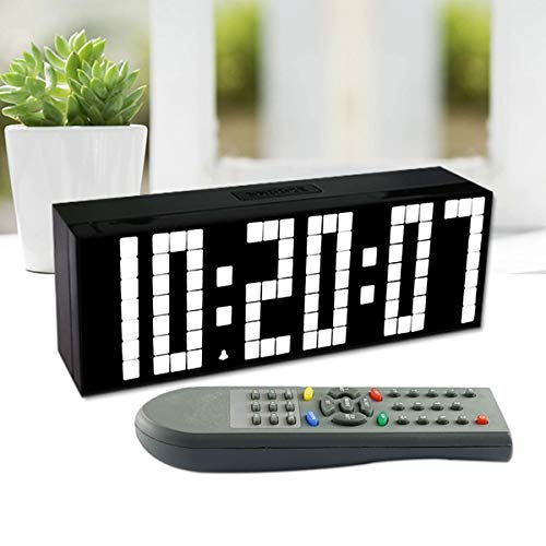 CPAZT Afstandsbediening wekker LED Digitaal groot Countdown Countdown Display Groot stopwatch sporthorloge herhalingstemperatuur huisdecoratie China Wit
