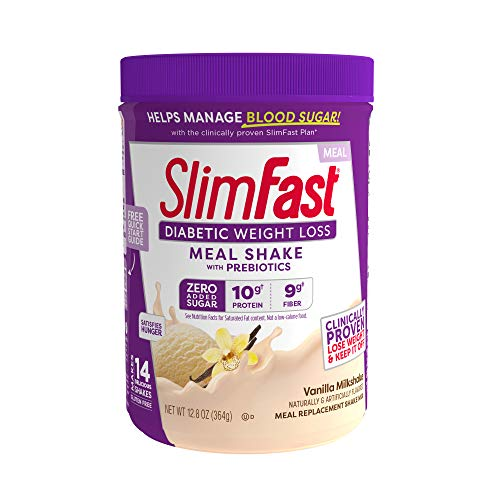 Slimfast Diabetic Weight Loss, Vanilla Milkshake Mix-10g Of Protein-12.8oz