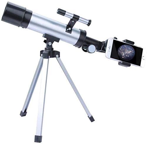 KAUTO 50mm Apertur Refraktor Teleskop 60X HD Objektiv Monokular Teleskop Mit Stativ und Sucher Zielfernrohr für Anfänger, Astronomisches Teleskop
