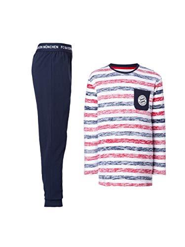 FC Bayern München Schlafanzug Kids/Pyjama gestreift für Kinder/Größe 164