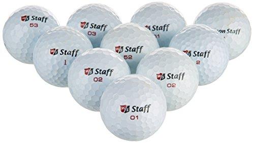 Wilson Staff Grade B - Bolas de Golf reciclada, Color Blanco