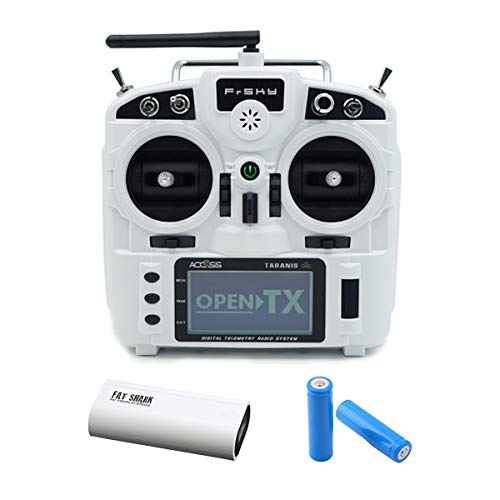 Frsky Taranis X9 Lite 24CH Radio Transmitter with 2 Batteries and Fat Shark USB Charger (White)