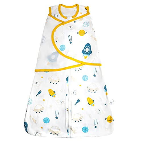 FLYISH DIRECT Saco de Dormir para bebé Algodón Saco de Dormir para recién Nacidos Manta Envolvente para Bebé Manta para bebés Verano , M, 6-12 Meses
