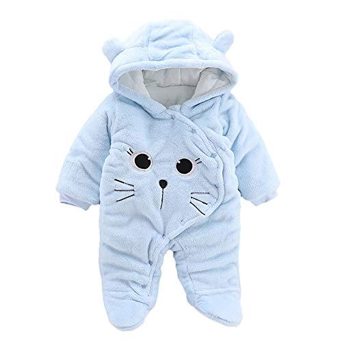 Covermason Vêtement Bébé Garçon Hiver Chaud Pyjama Naissance Combinaison Bébé Fille À Capuche Automne Grenouillère Jumpsuit Tenues Vêtements Manteau Barboteuse (9-12 Mois, Hot)