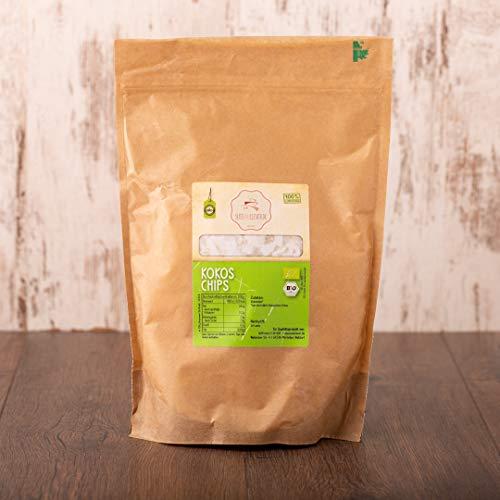 süssundclever.de® | Bio Kokosflocken | Bio Kokoschips 1 kg (2 x 500 g) | ungesüßt und naturbelassen | Rohkostqualität | plastikfrei und ökologisch-nachhaltig abgepackt | Kokoschips