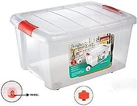 Aristo Plastic Storage Box with Wheel, 25 L, Multicolour