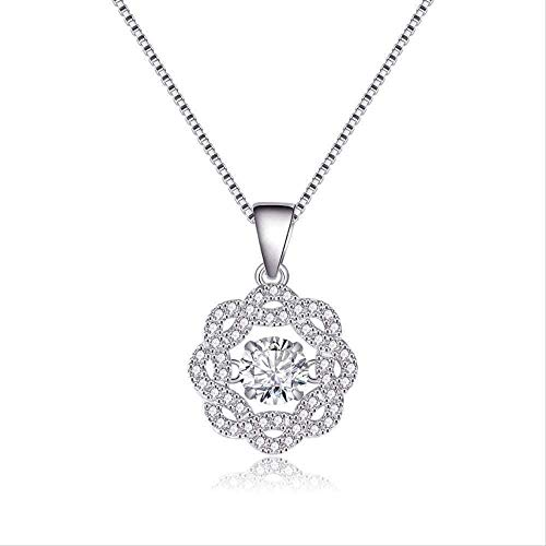 N-G Necklace Fashion Creative Personality Setup Romantic Hollow Tip Full Diamond Clavicle Chain Necklace Gifts