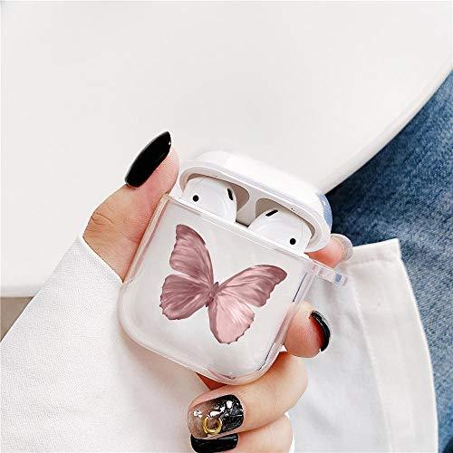 Butterfly Bluetooth-Kopfhörertasche für Airpods 2 1, kabelloser Kopfhörer Staubschutzschutzabdeckung-XH0410-04