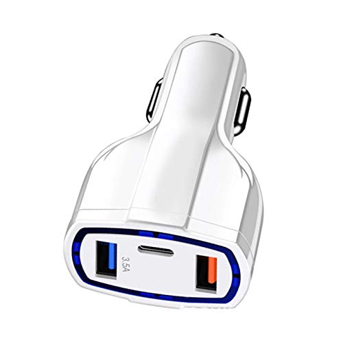 Goutui High Output USB Car Charger Type-C Port Fast Smart Car Charger Quick Charge 3.0 Compatible with Latest Models of Phone