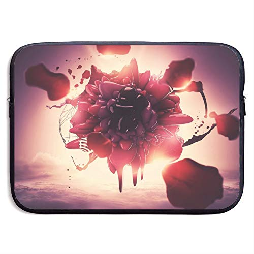 Waterproof Laptop Sleeve 13 inch, Fantasy Flower Pattern Business Briefcase Protective Bag, Computer Case Cover for Ultrabook, MacBook Pro, MacBook Air, Asus, Samsung, Sony, Notebook