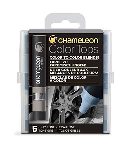 Chameleon Art Products - 5 Color Tops; Puntas de mezcla Chameleon; Tonos Grises
