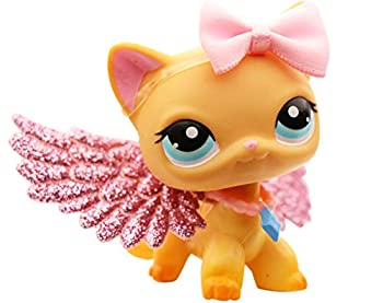 LPSXIE LPS Shorthair Cat 339 Yellow Blue Eyes Figure Toy Collection with Accessories Boy Girl Gift Set  lps Shorthair cat 339