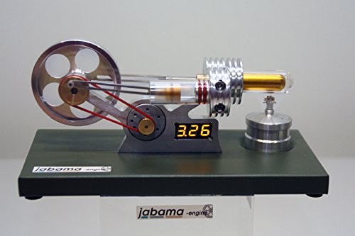 jabama Neuheit, Stirlingmotor mit Generator u.Voltmeter, Heissluftmotor,