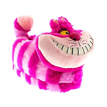 Happy Feet Slippers Officially Licensed Disney and Pixar Character and Figural Alice in Wonderland Cheshire Cat Slippers for Men Women and Kids As Seen on Shark Tank  Medium/Large