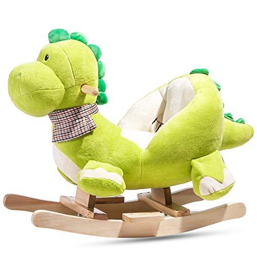Zebery Caballo mecedor, caballito mecedor de madera, silla mecedora para niños de 1 a 3 años