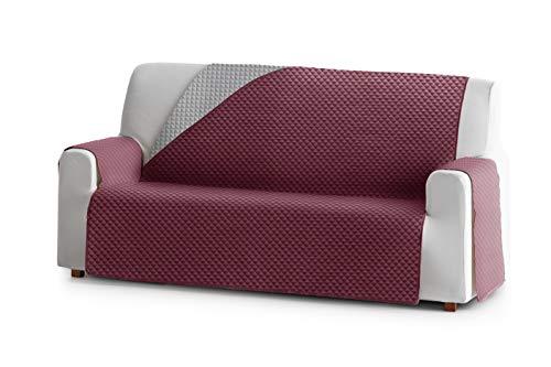 Eysa Oslo Sofa überwurf, Polyester, C/8 burdeaux-grau, 3 Sitzer 160cm. Geeignet für Sofas von 170 bis 210 cm