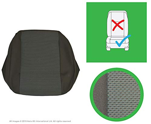 INKA Simora Titanium Black Front and Rear Seat Covers - to fit VW Transporter T6, T5.1 (Front Single Cushion)