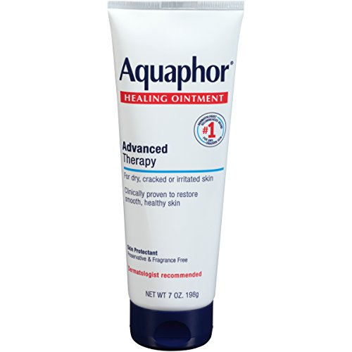 Aquaphor Healing Ointment - Dry Skin Moisturizer - Dry Hands, Heels, Elbows, Lips - 7 Oz Tube