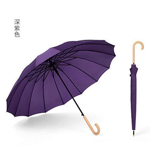 Regenschirm 16 Bonewood Handle Small Fresh Regenschirm Ms. Regenschirm mit langem Griff (nur ein Regenschirm ist im Lieferumfang enthalten), HH, 32.3IN