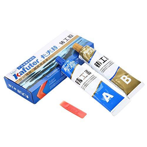 Winkey - Pegamento de gel adhesivo para reparación de metales y soldaduras frías, resistente al calor, acero inoxidable, aleación de aluminio