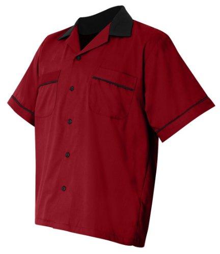 Hilton - GM Legend Bowling Shirt - HP2244 Red/Black