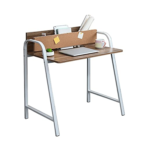 Escritorios Escritorio para computadora, mesa de oficina de 31.5 pulgadas con bolsa de almacenamiento, estación de trabajo de maquillaje de estudio moderno para el hogar / oficina, fácil de montar