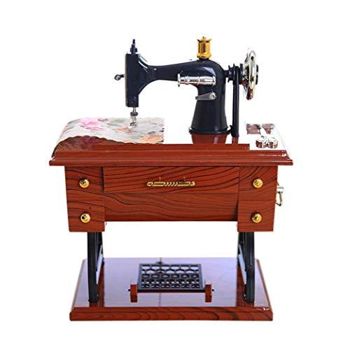 lulongyansf 1pc Weinlese-nähmaschine Geformter Musik-Box Mini-nähmaschine Modell Musical Box Schreibtisch-Dekoration-Geschenk Für Geburtstag Komfortable Versorgung