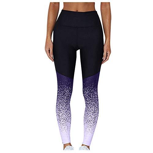 Mujeres Deportes Yoga Entrenamiento Cintura Alta Pantalón para Correr Fitness Legging Elástico
