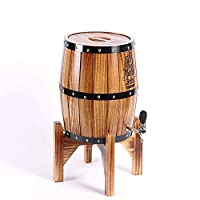 ヴィンテージオーク樽ワイン樽ディスペンサー用ウイスキーブルボンテキーラ、ワインキャビネット装飾工芸品ギフト (Color : Brown, Size : 5 liters)