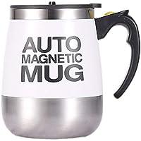 KEXG Taza de café Taza Mezcla Auto agitación té automático Auto Perezoso eléctrico Inoxidable (Blanco)