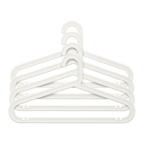 IKEA BAGIS Kleiderbügel in weiß; für innen und außen; 40 Stück