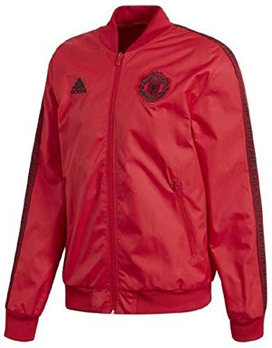 adidas アディダス サッカー マンチェスターユナイテッドFC Manchester United アンセムジャケット トレーニングトップ トレーニングウェア アウタージャケット 2XO(187-193cm) 国内正規品 FWV56 リアルレッド