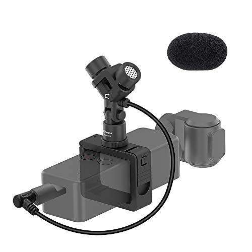 DJI Osmo Pocket Microphone, Comica CVM-MT06 Full Metal Stereo Video Microphone Universal for DJI Pocket Camera, with Pocket Mount Holder (TRS 3.5mm Input)