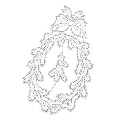 Ponnen Bowknot Hierba Forma De Círculo Troqueles De Corte DIY álbum De Recortes En Relieve Plantilla Tarjetas De Papel Artesanía Decoración Plata