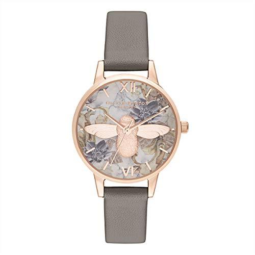 Olivia Burton Damen Analog Quarz Armbanduhr mit Lederarmband OB16CS19