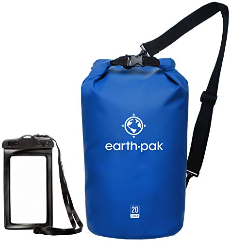 Earth Pak -Waterproof Dry Bag - Keeps Gear Dry for Kayaking, Beach, Rafting, Boating, Hiking, Camping and Fishing with Waterproof Phone Case
