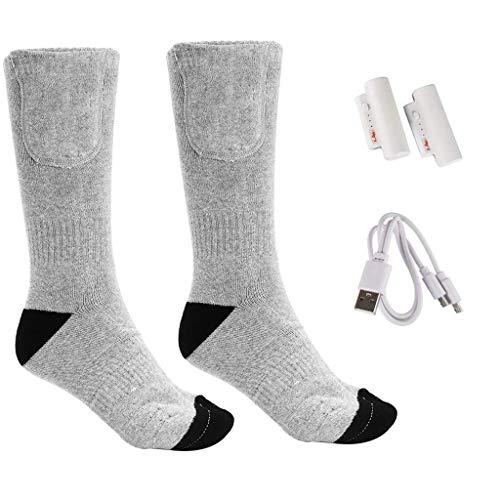 Eariy Elektrische Socken Lade WäRme Warme Lange Socken Winter Elektrische Heizung FußWäRmer Artefakt Aufladen Der Batterie Heizsocken Winter Electric Thermal Socks Sport Outdoor Socks (B)