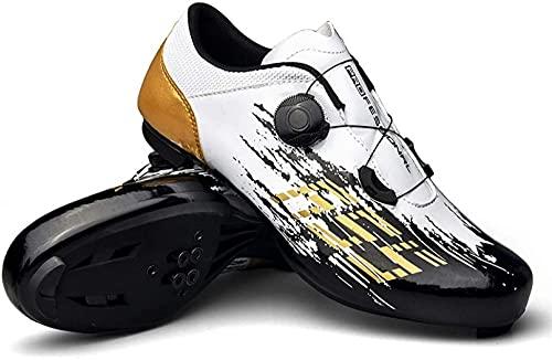 KUXUAN Zapatillas de Ciclismo para Hombre - Zapatillas de Spinning con Zapatilla...