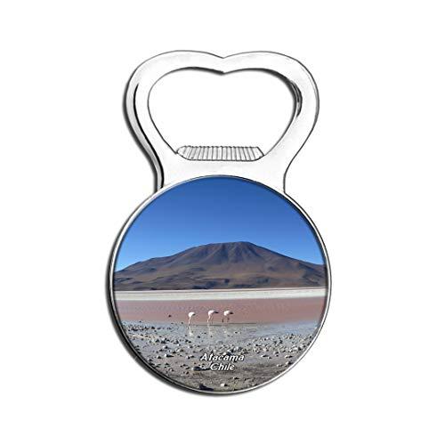 Weekino Flamants Roses, lac salé, désert d 'Atacama, Chili Aimant De Réfrigérateur Bière Ouvre-Bouteille Ville Voyage Souvenir Autocollant de réfrigérateur Fort